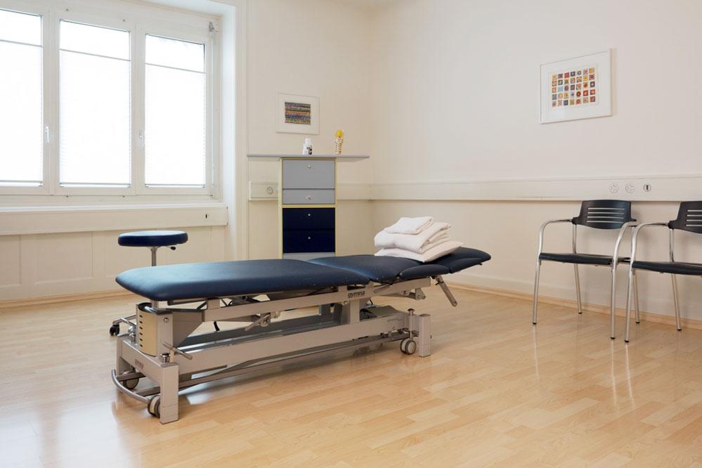 Behandlungsraum Physiotherapie Kornhaus Zürich